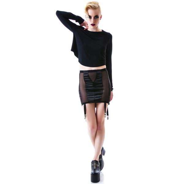 Widow Boudoir Garter Skirt