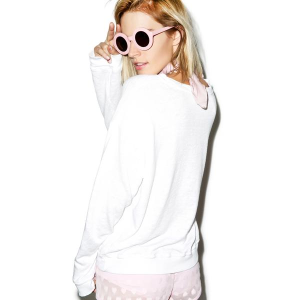 Wildfox Couture Sailor's Mouth Oversized Sweatshirt