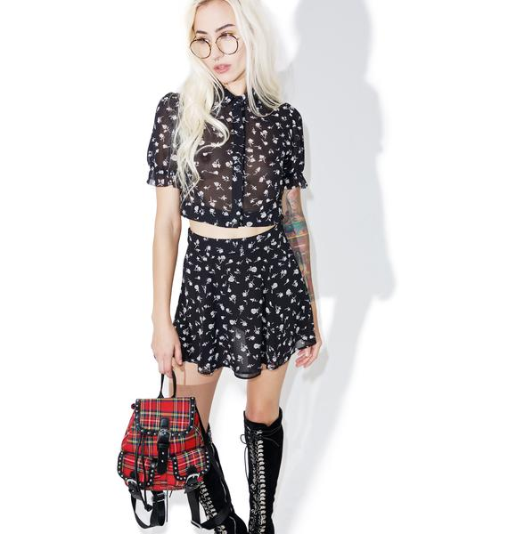Wildfox Couture Floral Swing Set Blouse