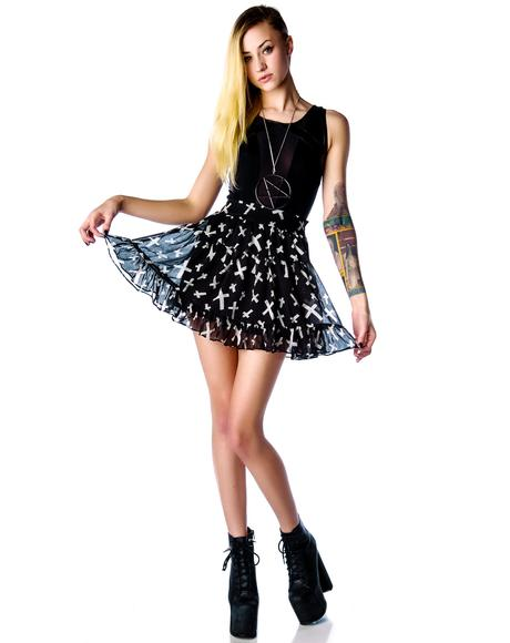 Cross Chiffon Skirt