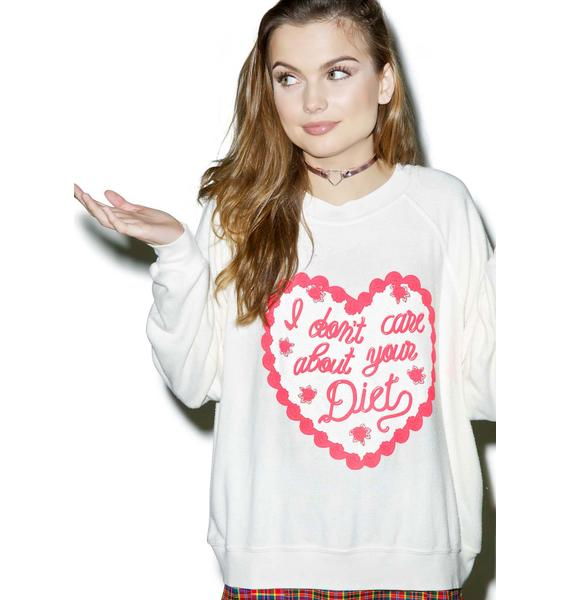 Wildfox Couture No Cares For Diets Kim's Sweater