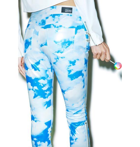 24HRS X Dolls Kill Cloudy Skies Moto Pants