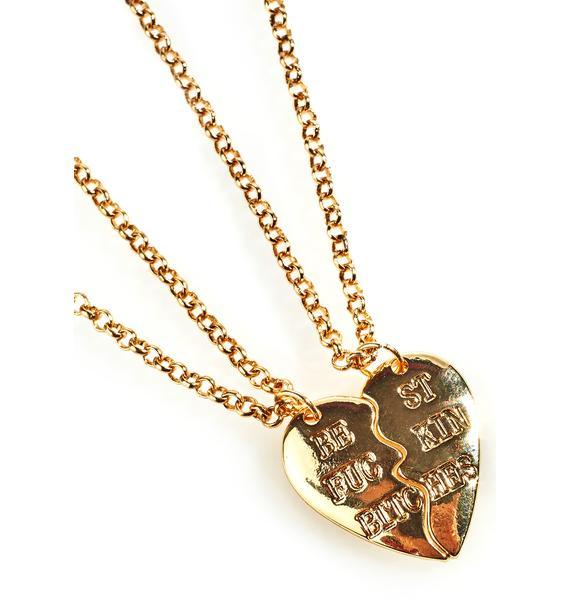 Best Fuckin' Bitches Necklace Set