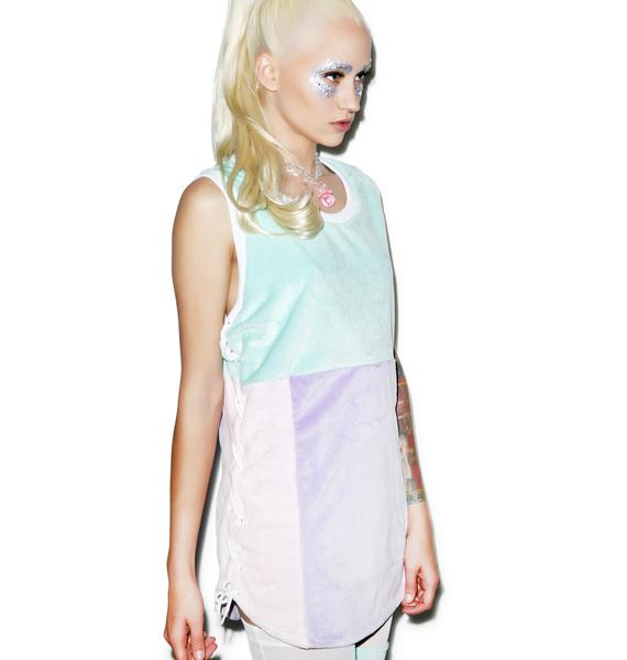 Coveted Society Pastel Faux Fur Jersey