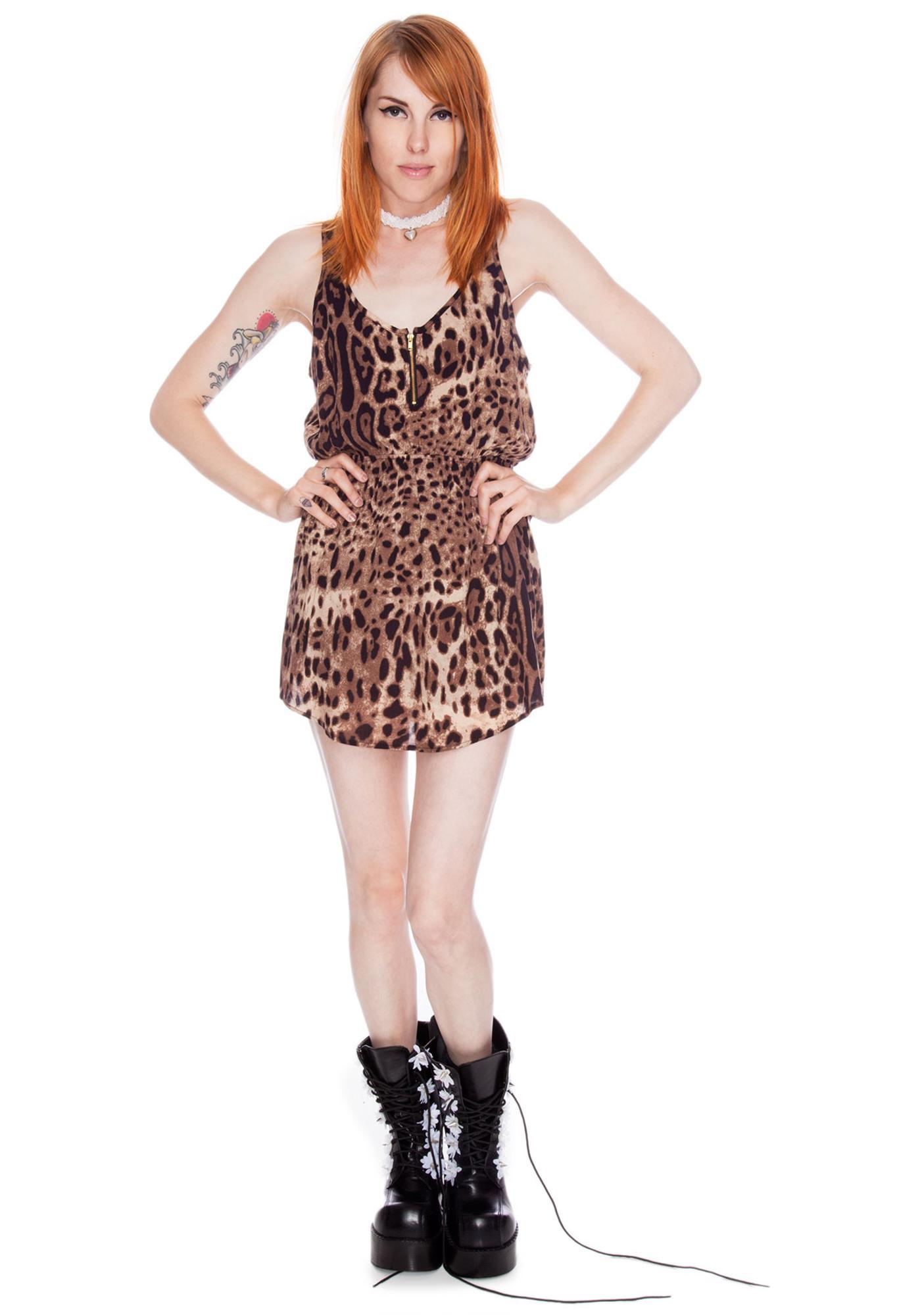 Joyrich Leopard Spot Tank Dress