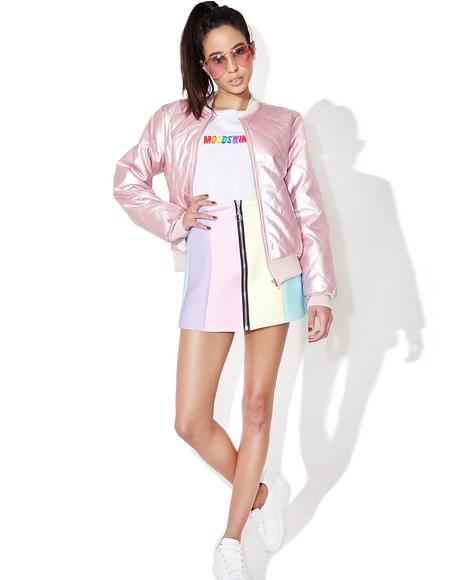 Rainbow Neoprene Skirt