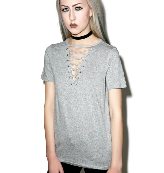 Glamorous Laces Out T-Shirt