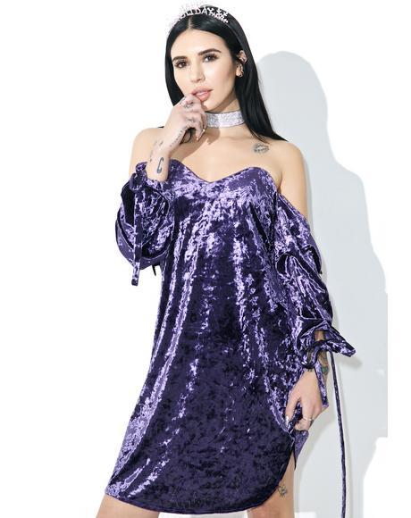 Mi Amor Velvet Shift Dress