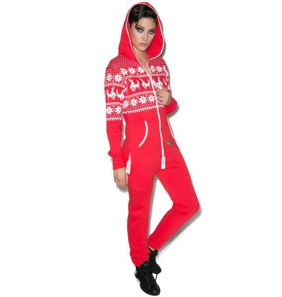 Tipsy Elves Reindeer Climax Jumpsuit