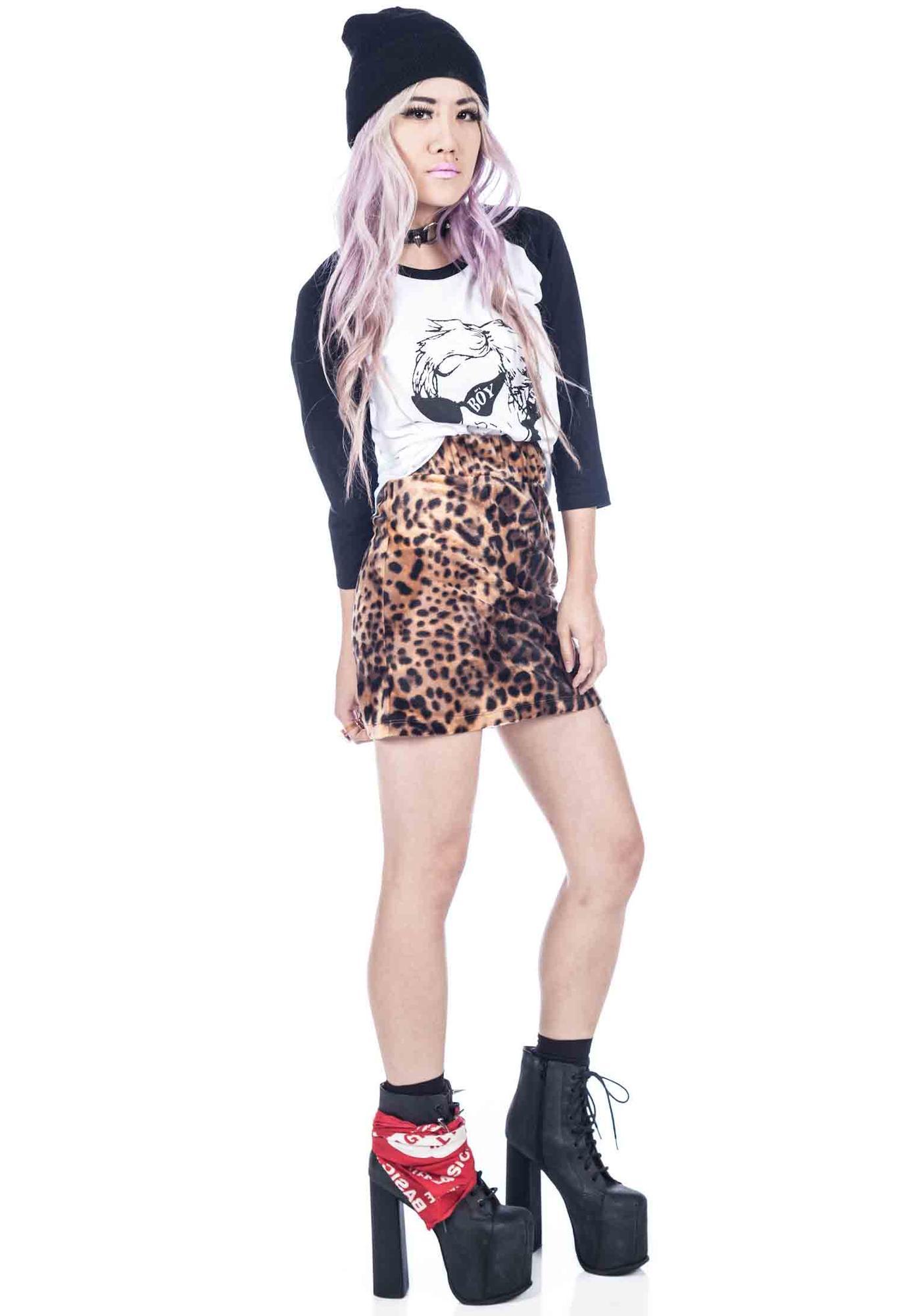 Joyrich Leopard Spot Skirt