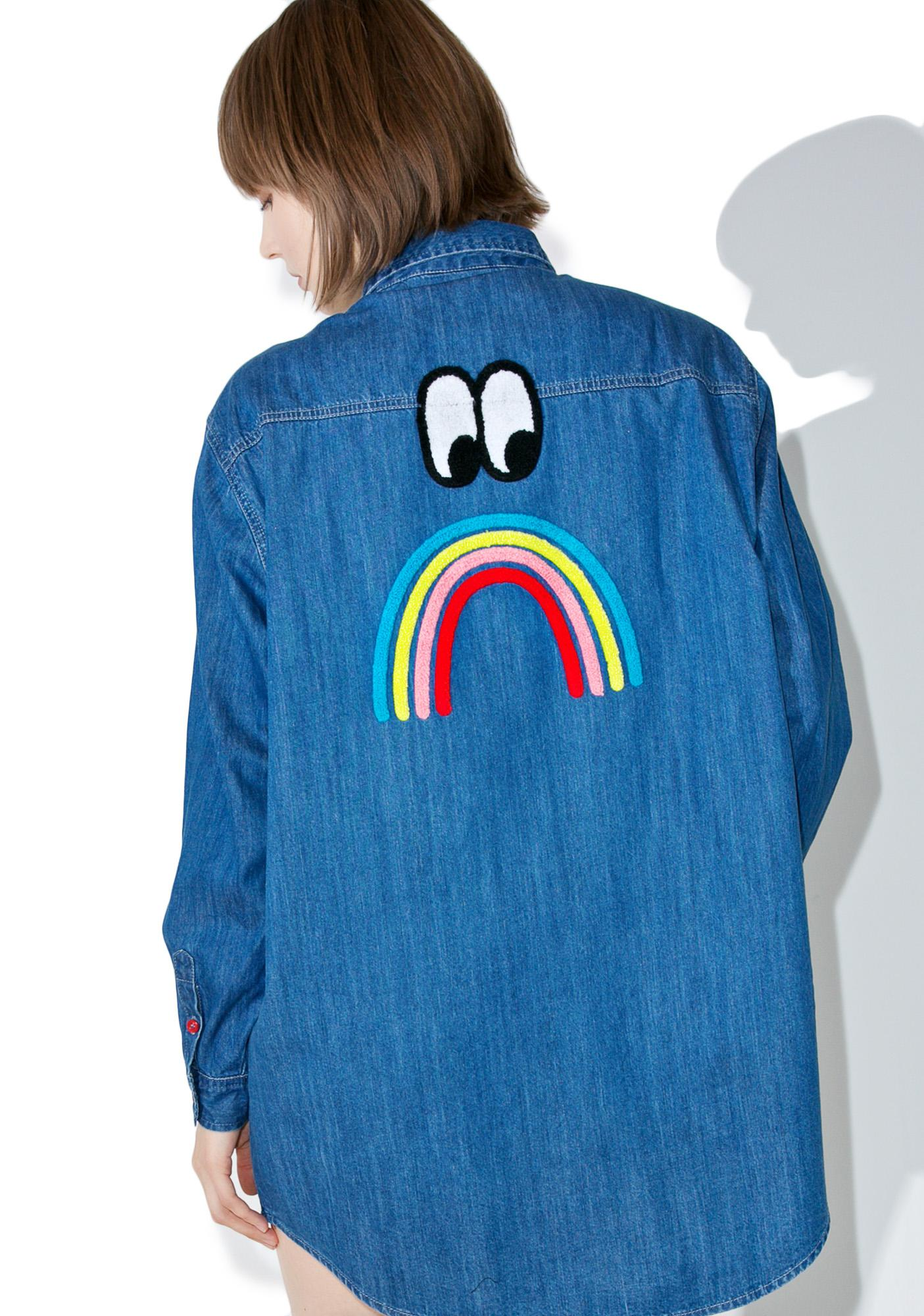 Lazy Oaf Sad Rainbow Shirt