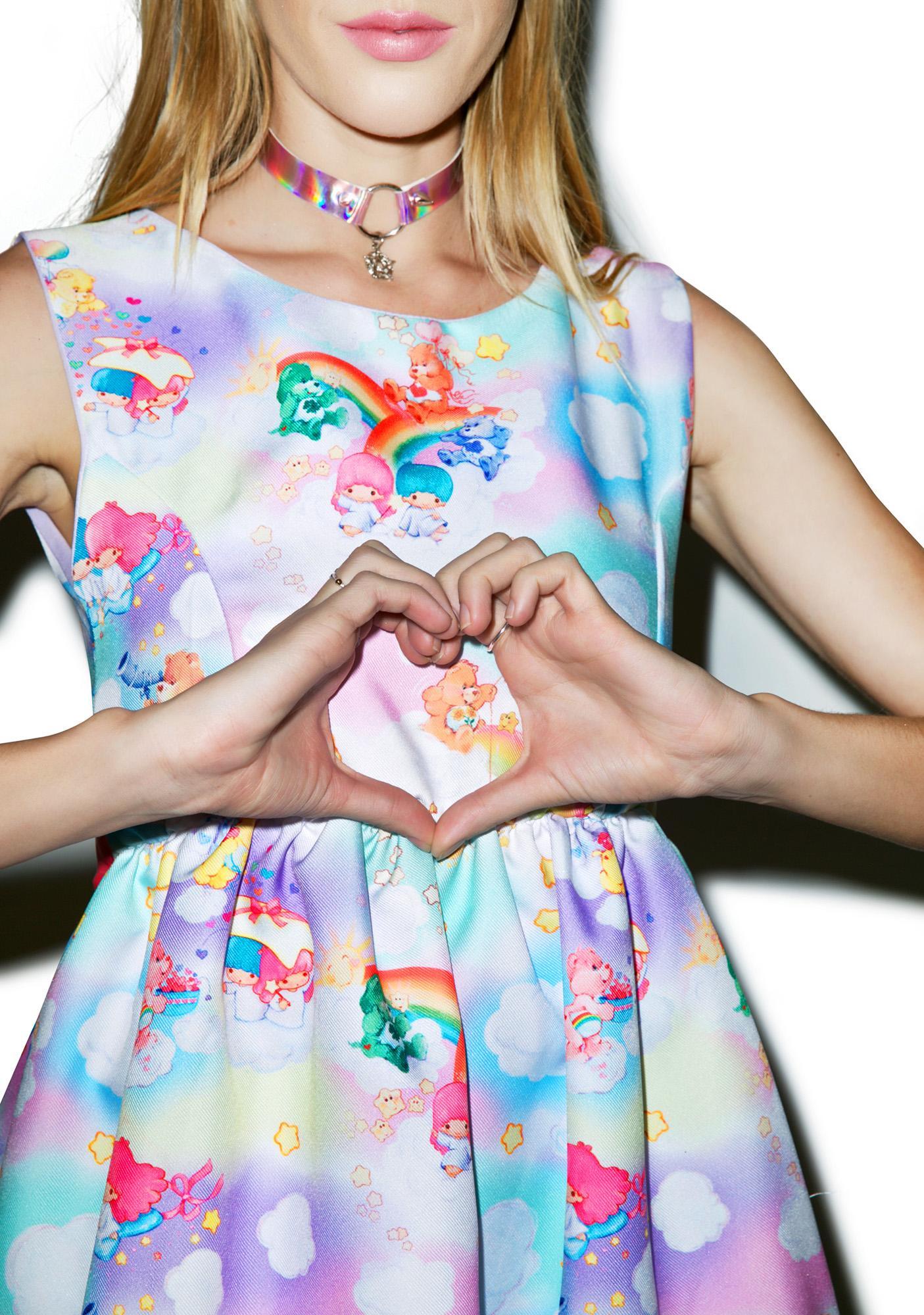 Japan L.A. Little Twin Stars X Care Bears Bow Back Dress