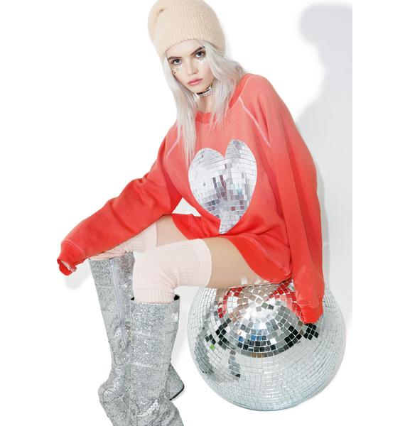 Wildfox Couture My Disco Heart Sommers Sweater