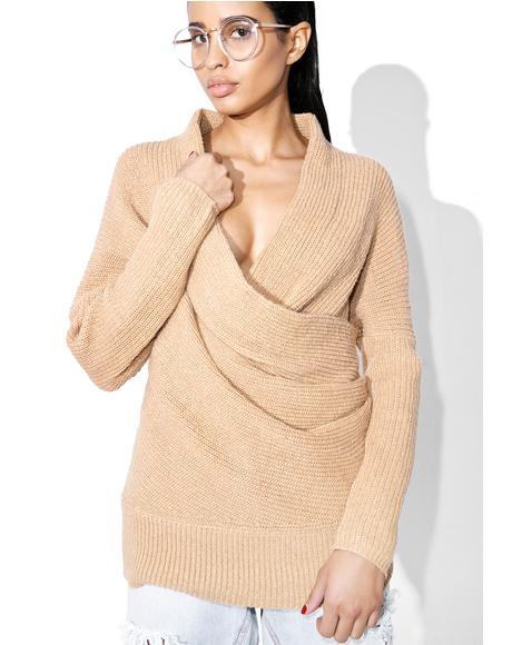 Don't Let Go Knit Wrap Sweater