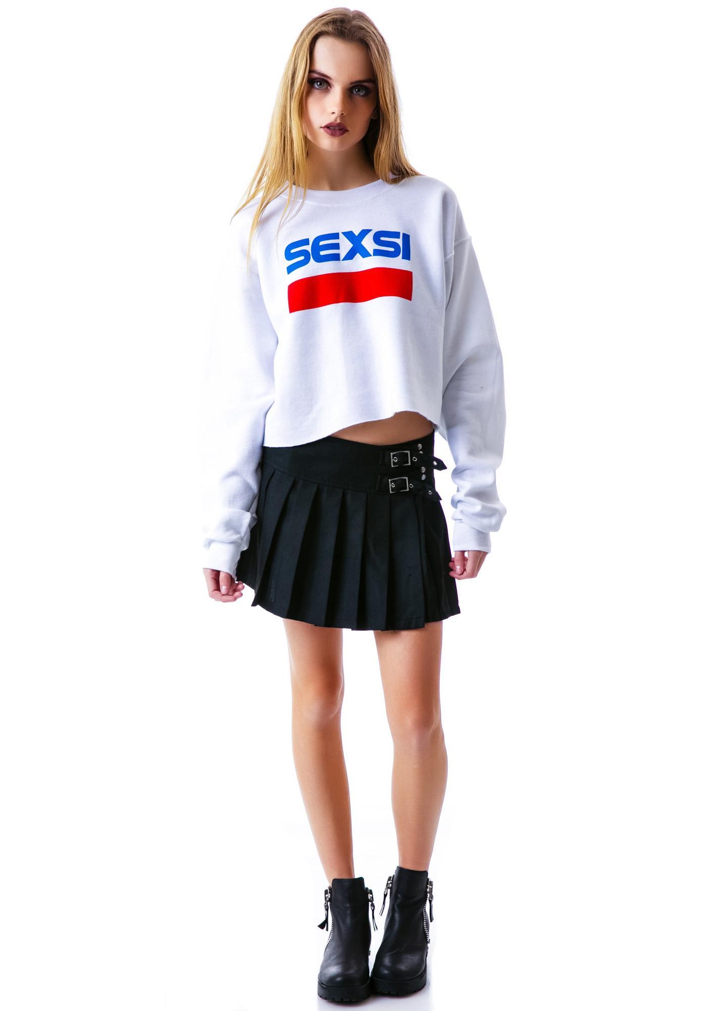 Petals and Peacocks Sexsi Crop Sweatshirt