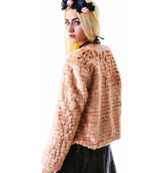 For Love & Lemons Faux Fur Jacket