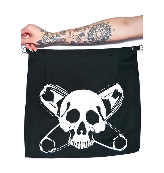 Skull And Pin Bones Bum Flap