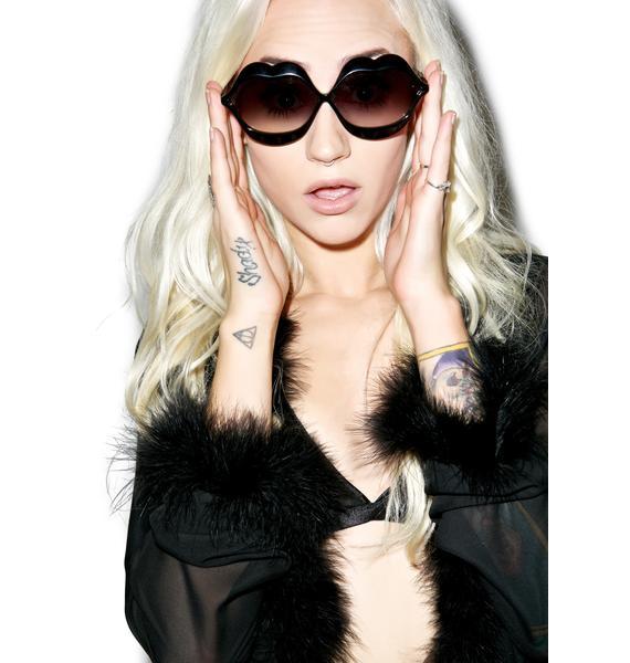 Wildfox Couture Black Lip Service Sunglasses