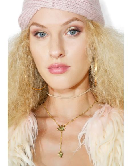 Leaf Lariat Necklace
