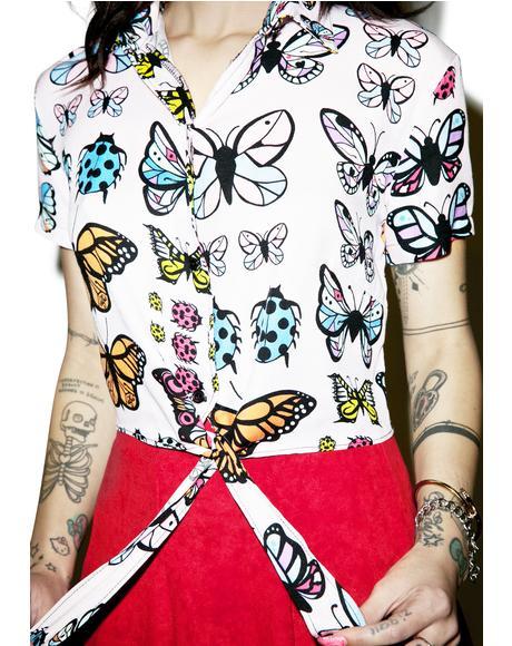Flutter Tie Crop Top