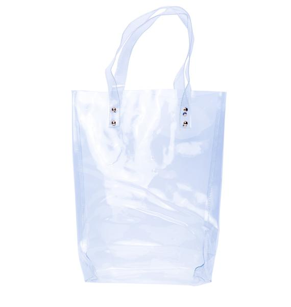 Babe Minimalist Transparent Kelly Tote
