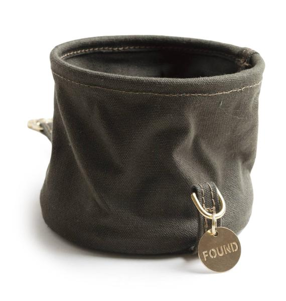 Canvas Collapsible Dog Water Bowl