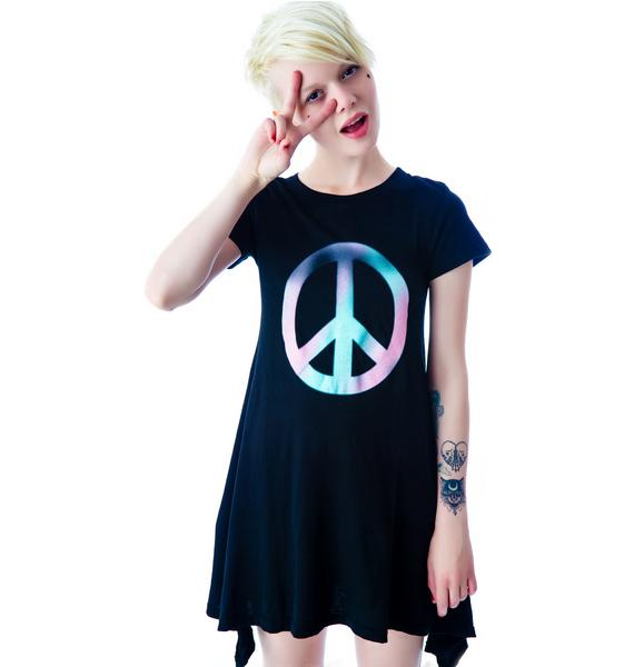 Wildfox Couture Stel Peace Babydoll T-shirt Dress