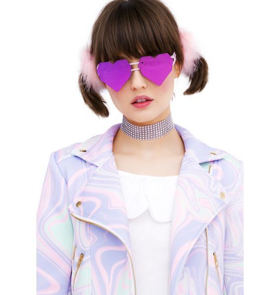 ESQAPE Pink Heart Speqz Sunglasses