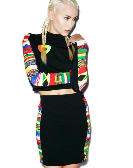 World Panel Mini Skirt