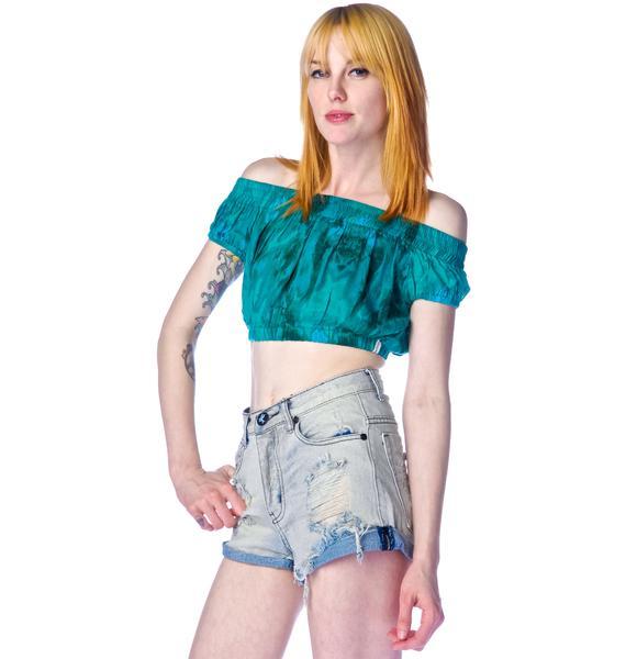 One Teaspoon Emerald Rose Gypsy Bodice