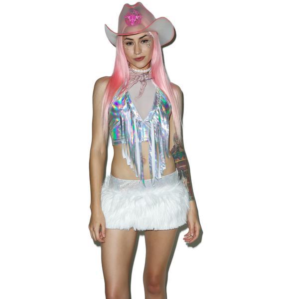 J Valentine Hype Hologram Light-Up Skirt