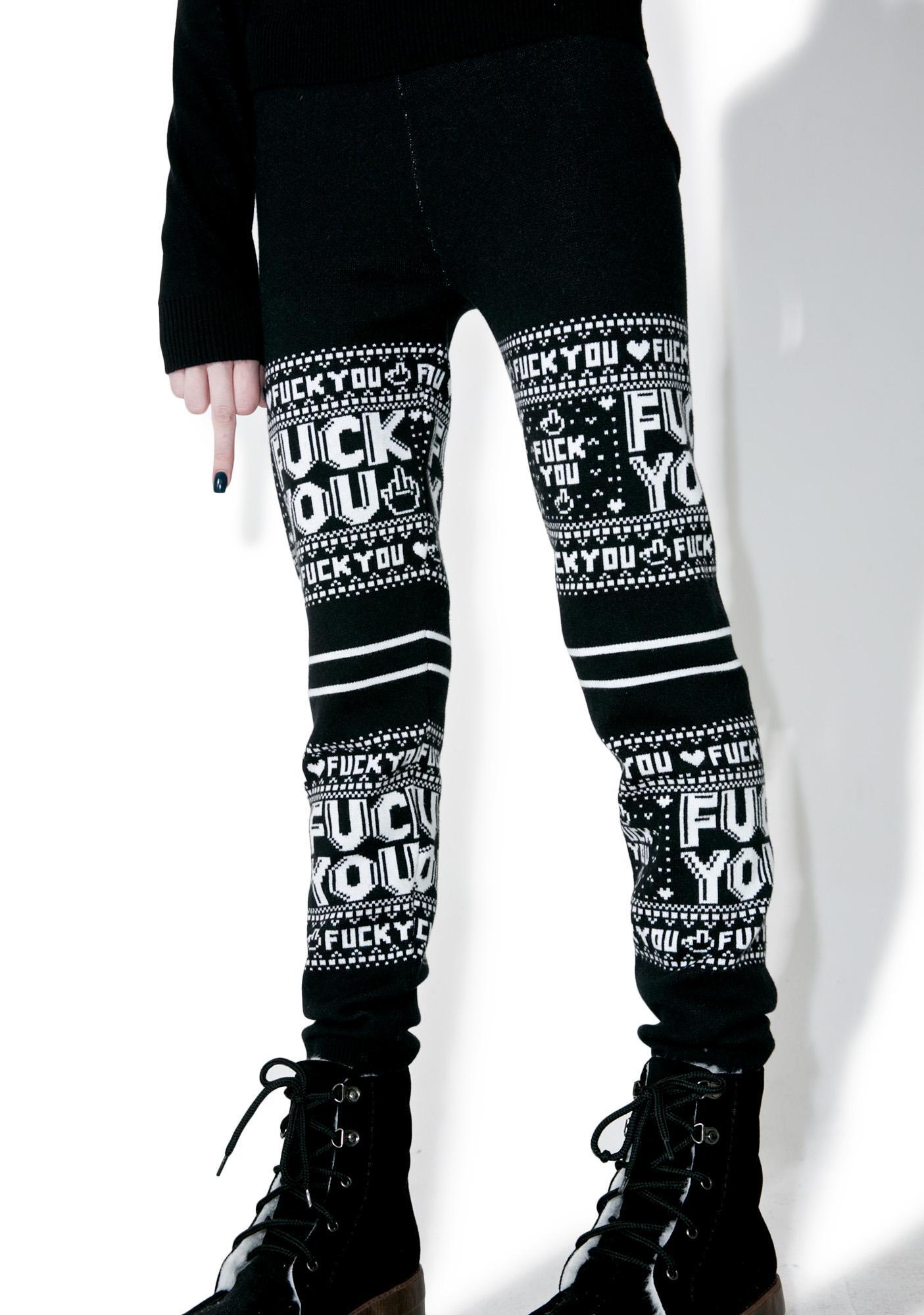 Sourpuss Clothing F You Leggings
