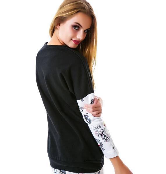 Sauce Doodle Print Sweatshirt