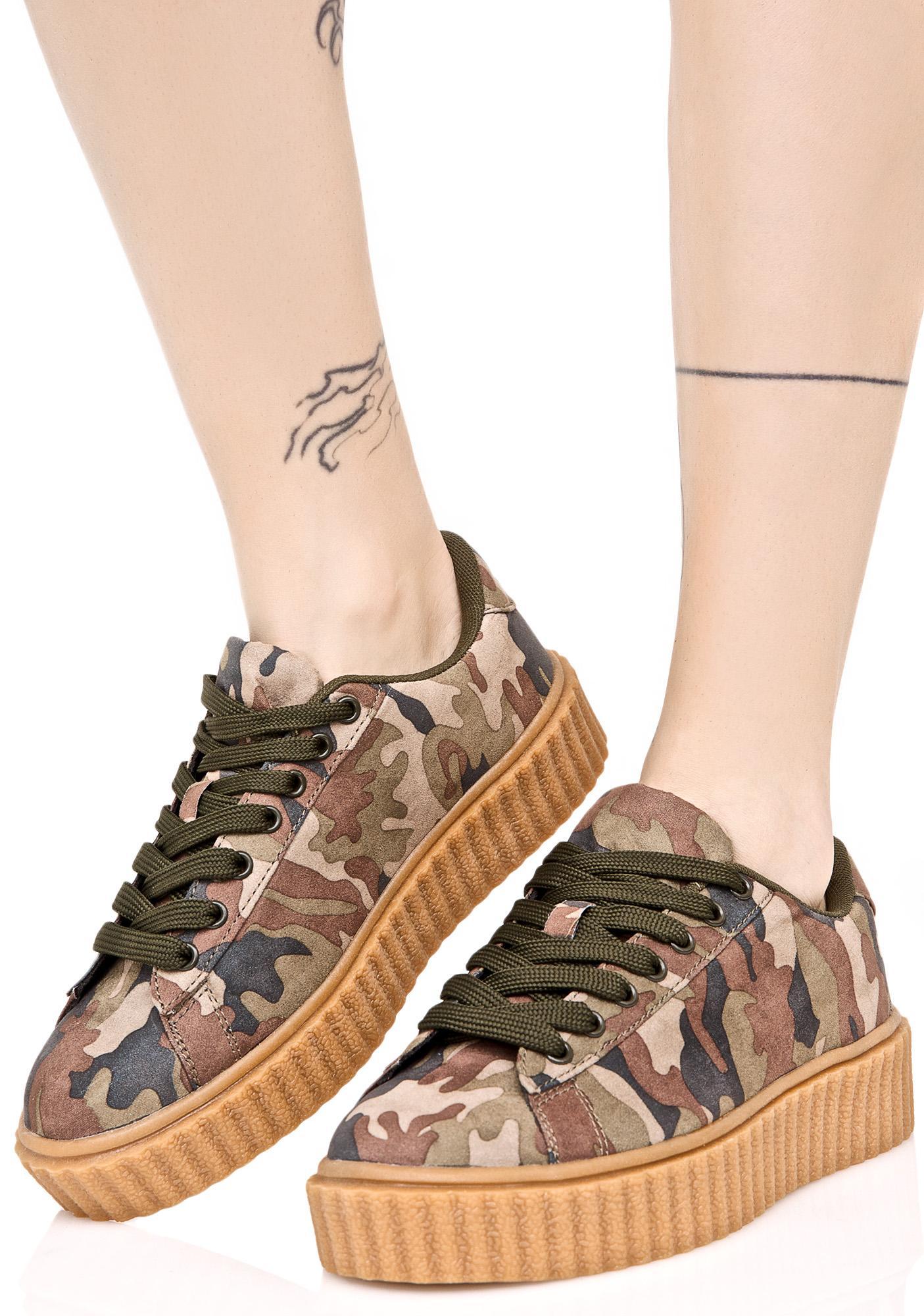 Camo Caught Me Creeper Sneakers