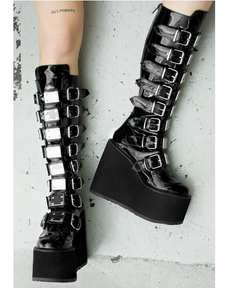 Patent Trinity Boots