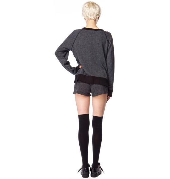 Wildfox Couture Sinatra Destroyed Sweater