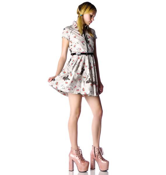 Iron Fist Lamby Pleated Dress