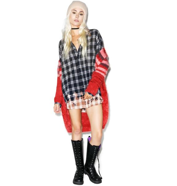 Wildfox Couture Dirty Flannel Button-Down Shirt