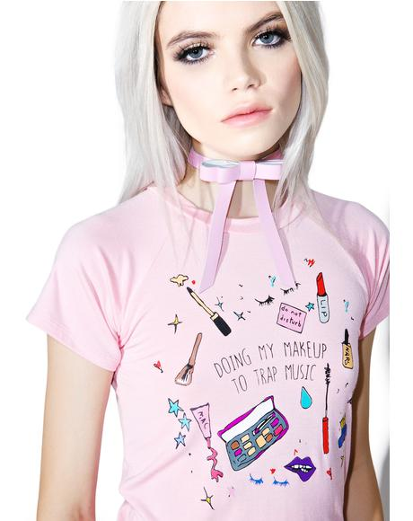 Make-Up Hoe Crop Tee