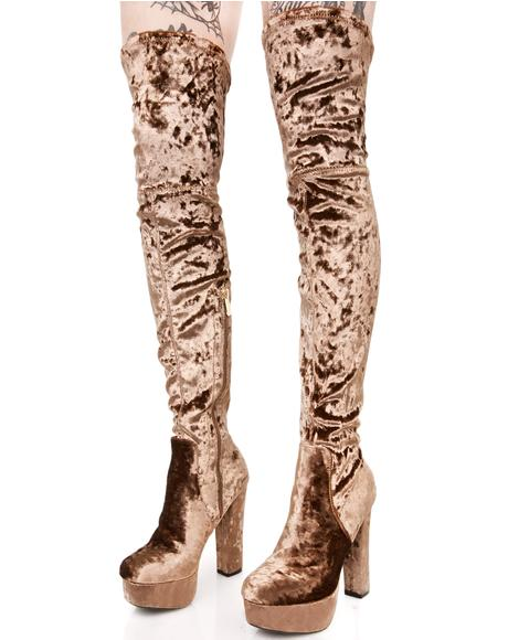 Polished Elle Thigh-High Boots