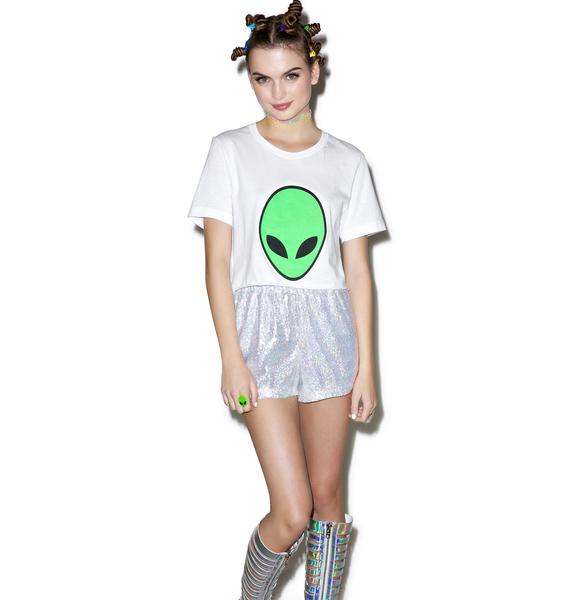 Moon River Foreign Babe Crop Tee