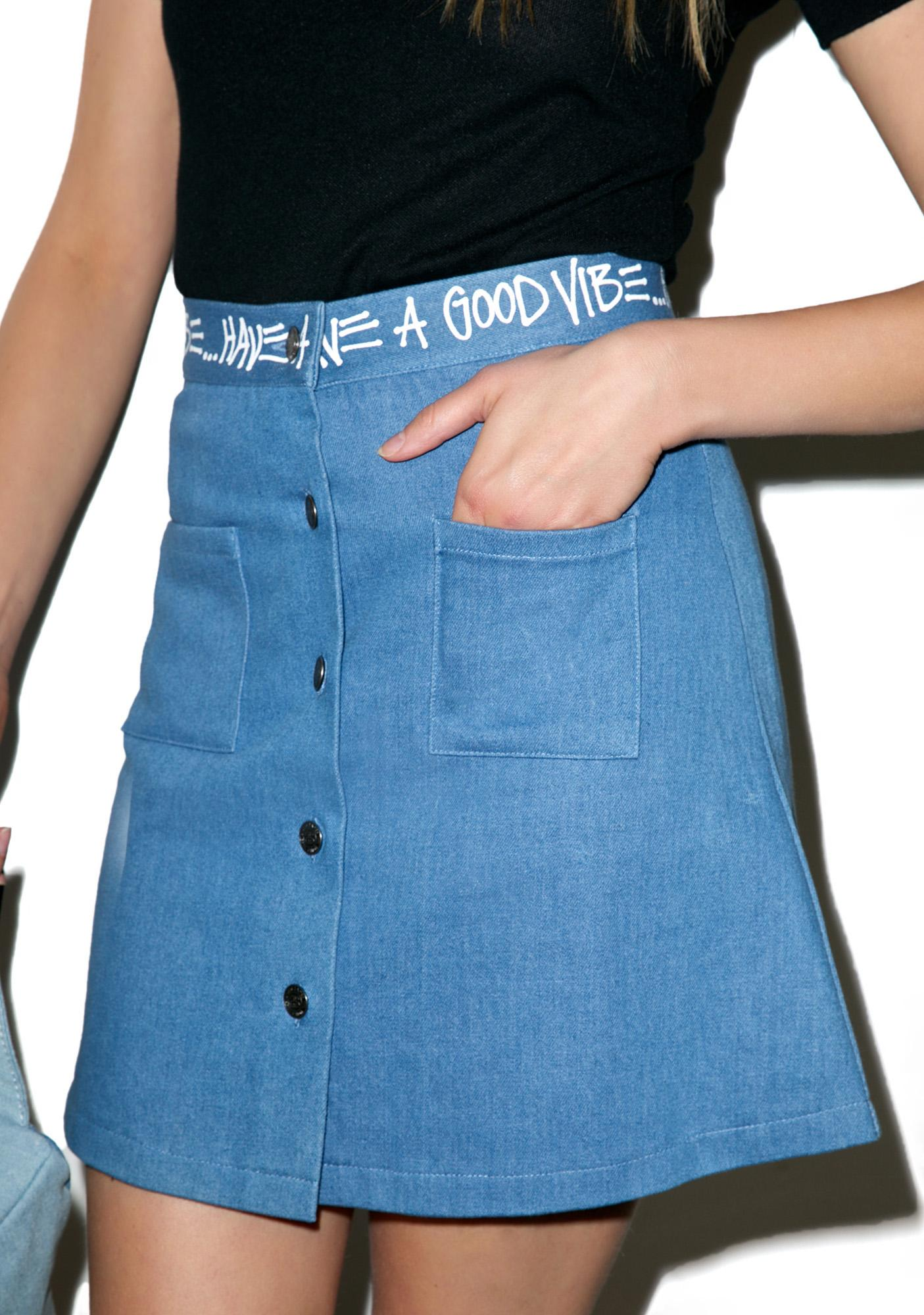 Stussy Denim Link Skirt