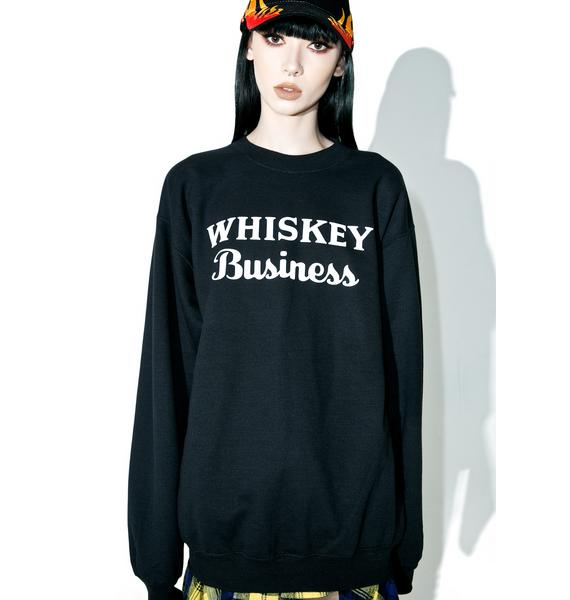 Petals and Peacocks Whiskey Business Sweater