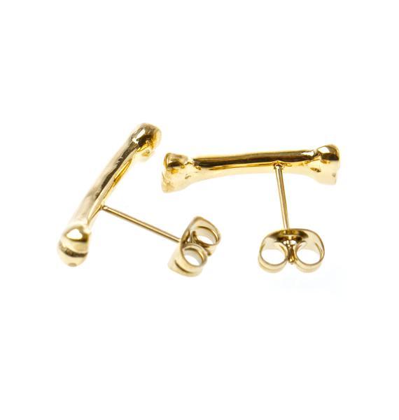 Han Cholo Golden Bone Earrings