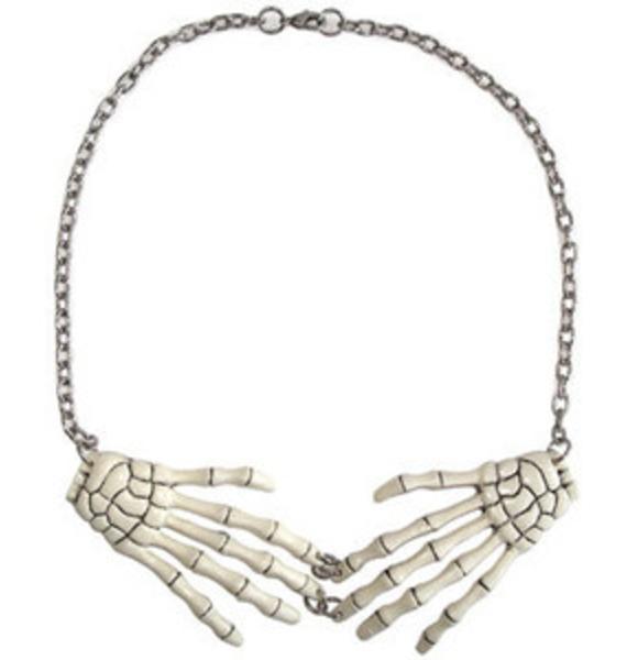 Kreepsville 666 Skeleton Bone Hand Necklace