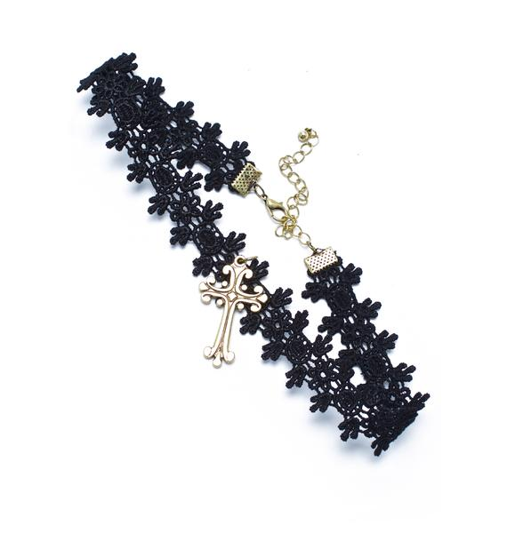 Lady Maria Cross Choker
