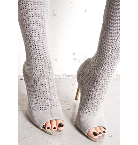 Smoke Myth Thigh-High Sock Boots