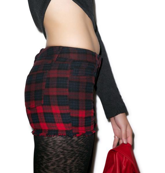 Tripp NYC Dip and Die Flannel Shorts