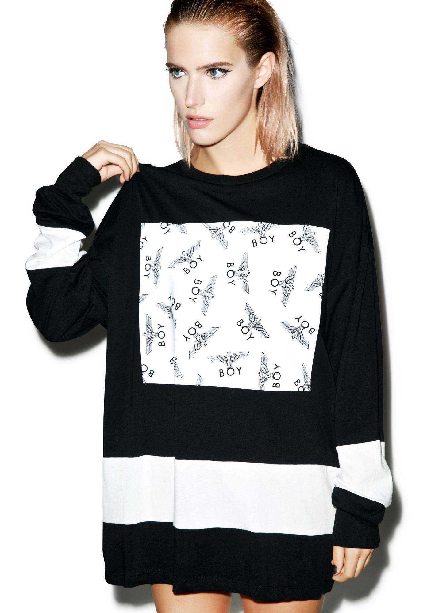 BOY London Allover Eagle Boy Long Sleeve Tee