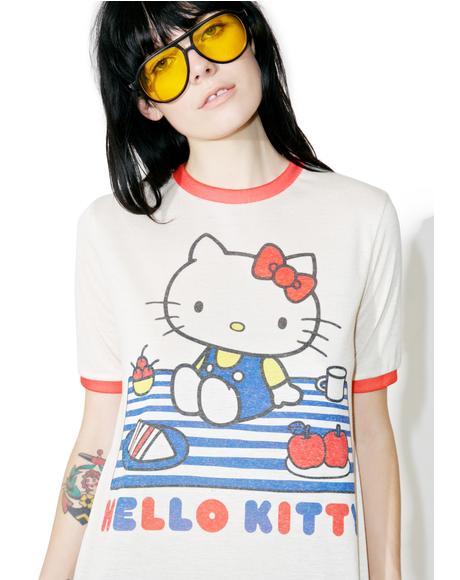X Sanrio Hello Kitty Picnic Ringer Tee